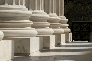 Columns United States Supreme Court building located in Washington, D.C., USA.