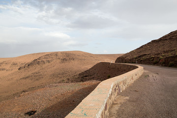 Mountain road in the Atlas mountains of Morocco
