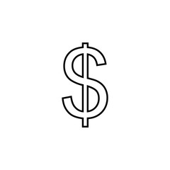 dollar icon. Element of business icon for mobile concept and web apps. Thin line dollar icon can be used for web and mobile