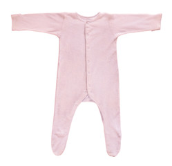 Pink baby sleeper isolated on white