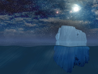 Iceberg at night