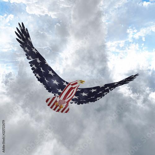 Wall mural Freedom Bird