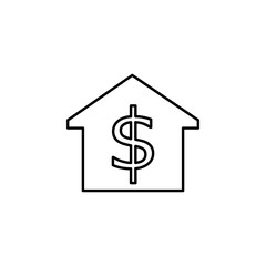 house price icon. Element of building and landmark outline icon for mobile concept and web apps. Thin line house price icon can be used for web and mobile