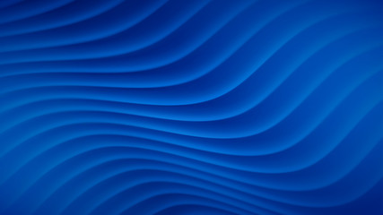 Abstract background with wavy lines in blue colors