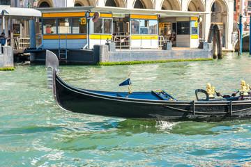 gondola in the narrow canals of Venice, Italy