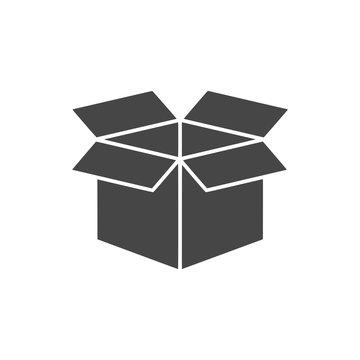 Open box icon, simple vector icon