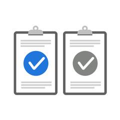 Fototapeta Clipboard checklist flat design. Check list vector illustration