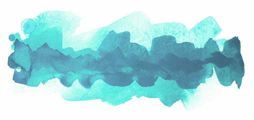 layered watercolor strip blue with a dark middle with a place under the text element of the postcard