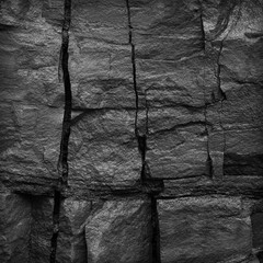 Background from natural texture of stone surface. Stone surface black and white texture.