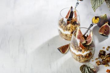 dessert with granola and Greek yogurt