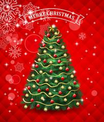 bright Christmas tree card