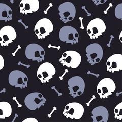 skull bones halloween pattern bckg vector dark
