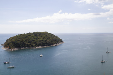 Phucket island and boats