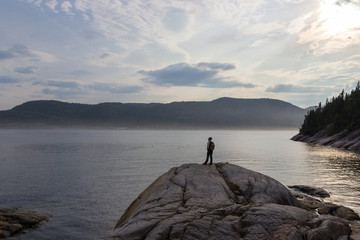 Whale watching in Tadoussac