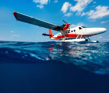 Seaplane on water