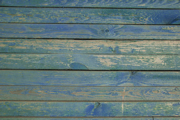 Old Blue Wooden Texture Background. Bright Wood  Structure