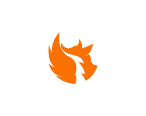 Vector Illustration of Abstract Fox Icon isolated on a white background