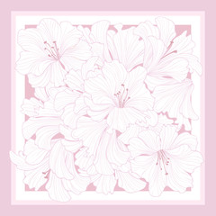 Floral pattern decor for silk tiussiue. Flower lilies background