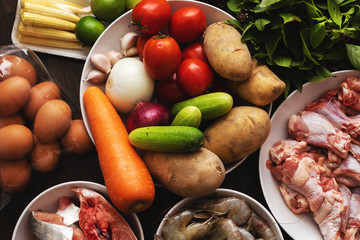 Healthy food for cooking and properly diet