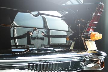 Rear part of the retro car