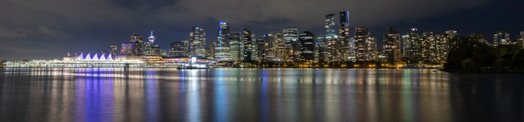 Night View of Vancouver Downtown