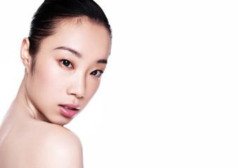 Beauty asian woman health cosmetic makeup portrait