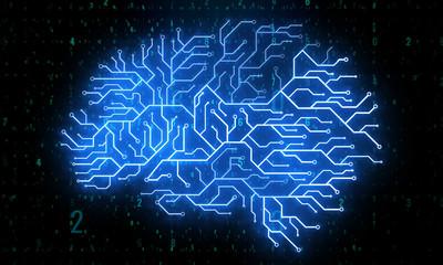 Creative circuit brain background