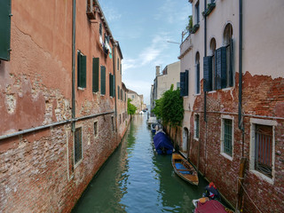 Venice, Italy, Venetian Canals in summer