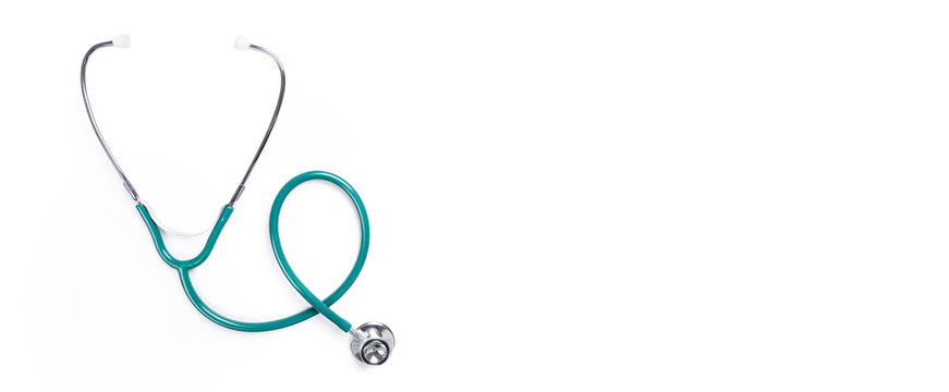Doctor stethoscope on white background