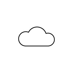 Cloud sign icon. Element of image sign for mobile concept and web apps illustration. Thin line icon for website design and development, app development. Premium icon