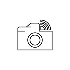 Camera wifi sign icon. Element of image sign for mobile concept and web apps illustration. Thin line icon for website design and development, app development. Premium icon