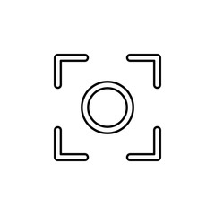 Center focus sign icon. Element of image sign for mobile concept and web apps illustration. Thin line icon for website design and development, app development. Premium icon