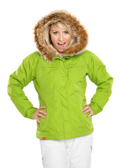 Blonde Woman Dressed For Cold Winter Weather