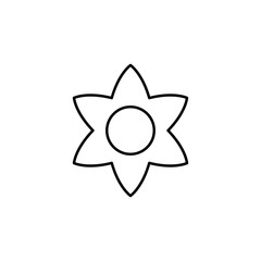 Flower sign icon. Element of image sign for mobile concept and web apps illustration. Thin line icon for website design and development, app development. Premium icon