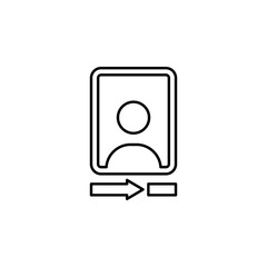 Camera front sign icon. Element of image sign for mobile concept and web apps illustration. Thin line icon for website design and development, app development. Premium icon