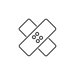 Bandage sign icon. Element of image sign for mobile concept and web apps illustration. Thin line icon for website design and development, app development. Premium icon