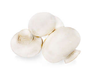 Fresh Champignons Mushroom on a white background. Clipping Path