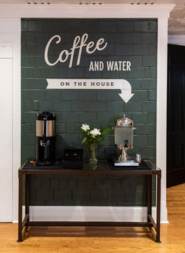 Coffee and Water Station