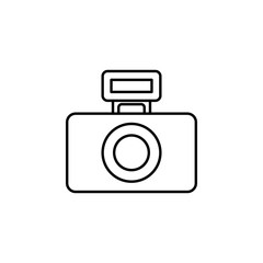 camera flash. Element of photography icon for mobile concept and web apps. Thin line camera flash can be used for web and mobile