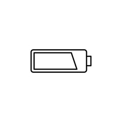 battery. Element of photography icon for mobile concept and web apps. Thin line battery can be used for web and mobile