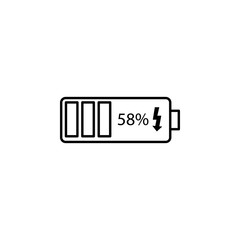 battery charging. Element of photography icon for mobile concept and web apps. Thin line battery charging can be used for web and mobile