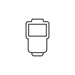 flash. Element of photography icon for mobile concept and web apps. Thin line flash can be used for web and mobile