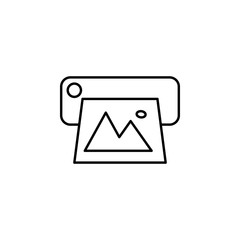 Printer. Element of photography icon for mobile concept and web apps. Thin line Printer can be used for web and mobile