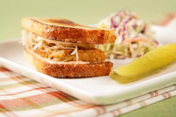 Vegan & Vegetarian Food - Tempeh Reuben Sandwich