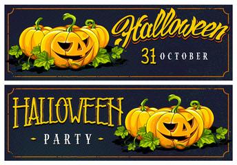 Halloween Web Banners Vector Designs
