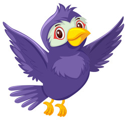 A cute purple bird