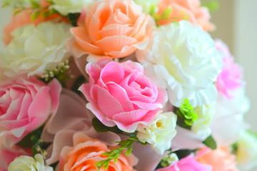 Pastel Rose Artificial Flowers bouquet