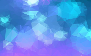 Light Blue purple Low poly crystal background. Polygon design pattern. Low poly vector illustration, low polygon background.