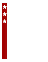 Abstract American flag ribbon frame with blank space for your design.