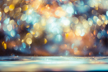 Wall Murals bokeh glitter Colorfull Blurred abstract background for birthday, anniversary, wedding, new year eve or Christmas